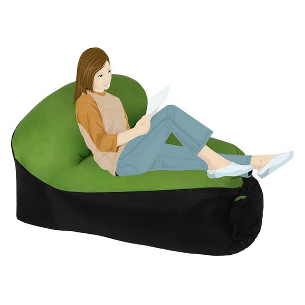 Outdoor Fast Inflatable Lazy bag Air Sleeping Rest Chair Sofa Camping Portable Air Chair Beach Bed Hammock