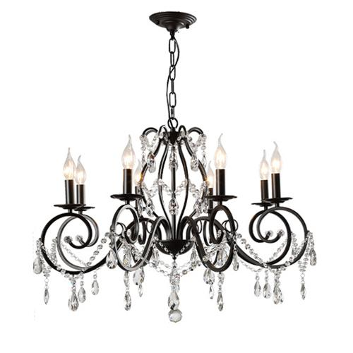 American chandelier living room crystal lamps restaurant country lights bedroom study lighting shop wrought iron black candle chandeliers