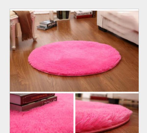 Round Rugs Floor Mats Rag Rug Circular Carpet Yoga Pet Mat Non Slip Fluffy  Decoration Bedroom Living Room Bathroom Kitchen Study Porch Frieze Area ...