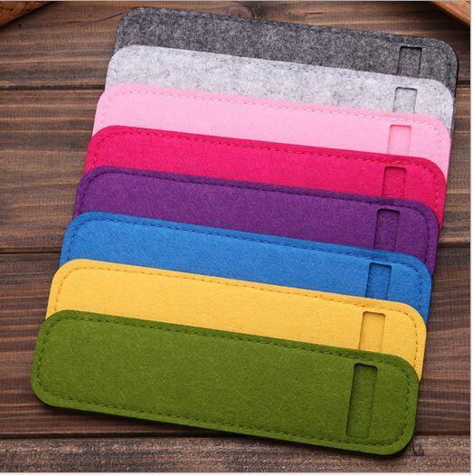 Cheap Creative Wool felt pencil case Mini pen bag Bandage Stationery pouch purse office school supply