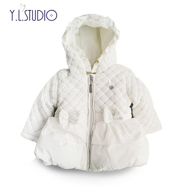 Meninas do bebê recém-nascido Casaco Grosso Manga Longa Jaqueta 2018 Outono / Inverno Moda Bebês Casacos Casacos Roupas para 0M-6M Crianças