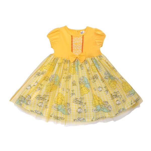 2018 Girls Princess Dress Children's Clothing Cotton Kid Skirt 2 Color Short-sleeved Baby Dress Halloween Costumes