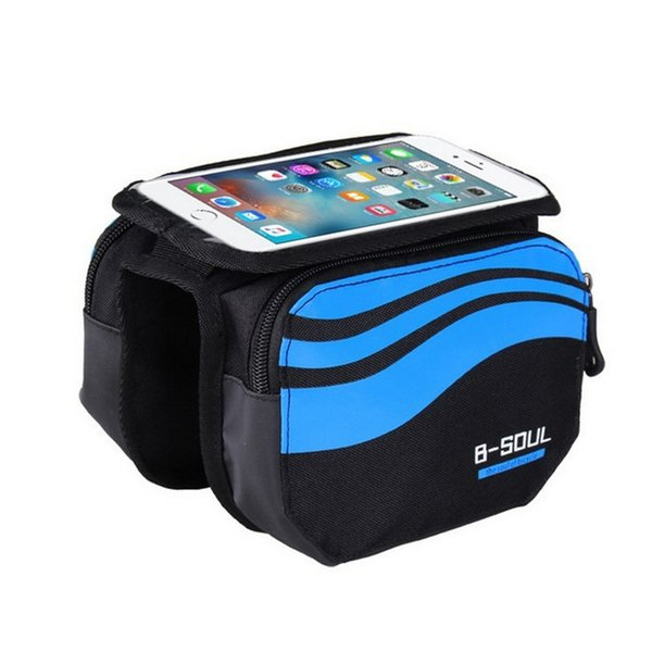 Touch Screen Bicycle Phone Bag MTB Road Bike Cycling Mobilephone Pouch Front Pack 5.7inch Cellphone Case Bag Bicycle Accessories