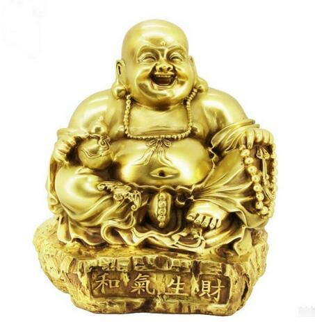 The opening of Maitreya Buddha Buddha copper handicraft ornaments Friendliness is conducive to business succe