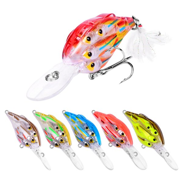best selling New ABS Plastic Wobbler Laser bass Lure 11cm 12.5g Live Target Lifelike Fish Swimbaits Freshwater Crankbaits with Retal Box Package