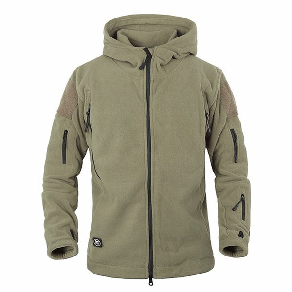 Army Tactical strato uniforme Soft Shell panno morbido di inverno caldo Hoody Jacket Men s Abbigliamento casual termica antivento con cappuccio
