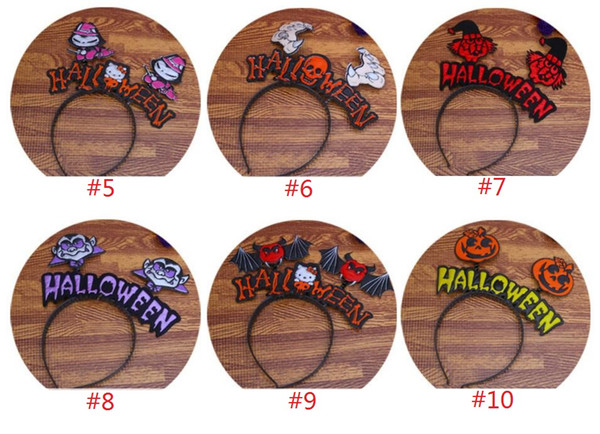 Halloween Headbands Hair Band Children and Adult Hair Accessories Pumpkin Hat Cobweb Wizard Hat Kids Party Headwear Hair Sticks Clasp 300pcs