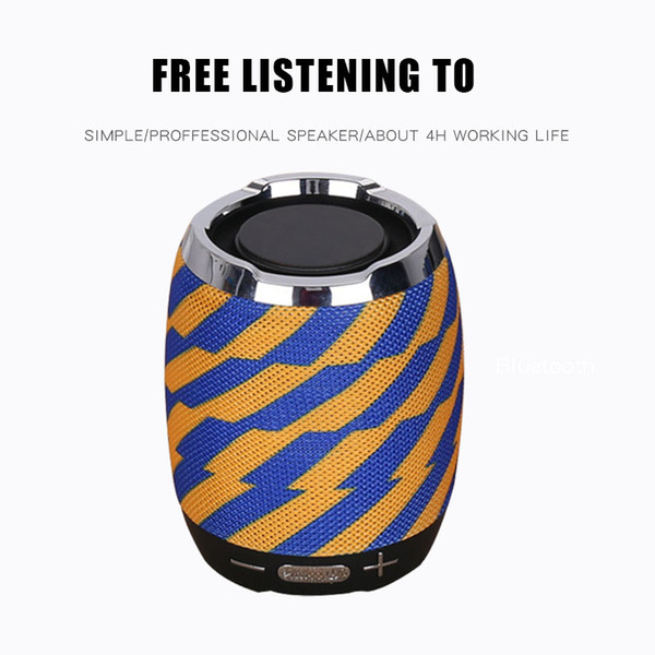 Mini Portable Wireless Bluetooth Speaker Handsfree Heavy Bass Stereo Loud speakers Sound box Boombox 7 styles Support TF and USB FM Radio