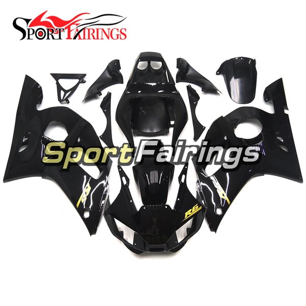 NEW Motorcycle Complete Fairings For Yamaha YZF600 R6 YZF-R6 1998 1999 2001 2002 Injection ABS Plastic Motorcycle Body Kit Gloss Black New