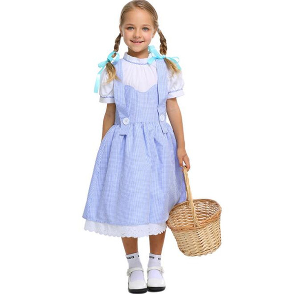 2018 Girl Maid Cosplay Costumes Halloween Stage Performance Girl Costumes fantasia vestido Tutu dress Kids carnival party Dress