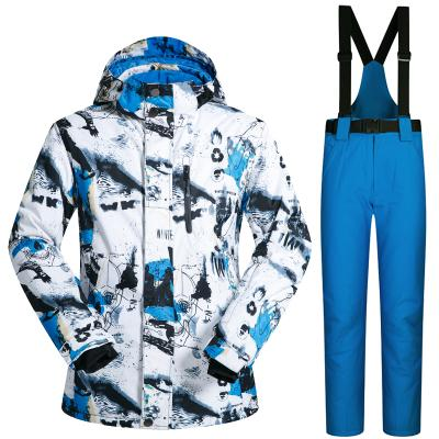 Mens Outdoor Sports Ski Suit Men Windproof Waterproof Thermal Snowboard Snow Skiing Jacket and Pants Skiwear Ice Skating Clothes
