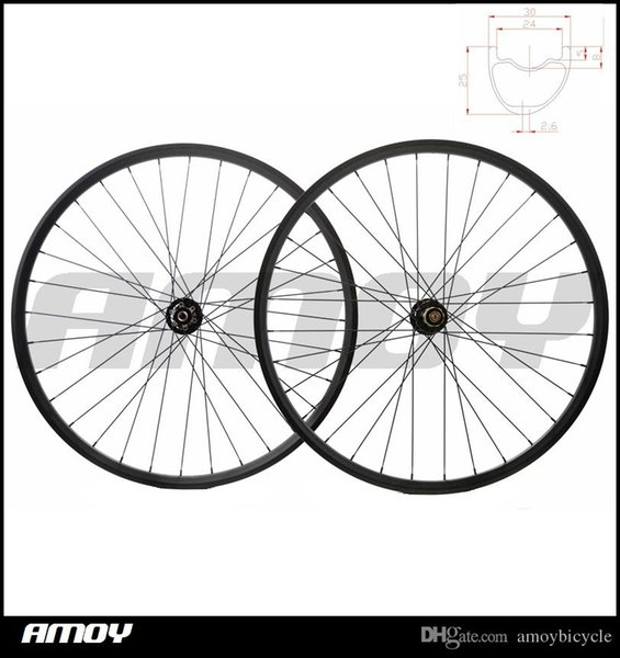 Super light full fiber mountain bike rims 791/792 hubs mtb bicycle 30mm wide wheelset MTB 29er carbon wheels