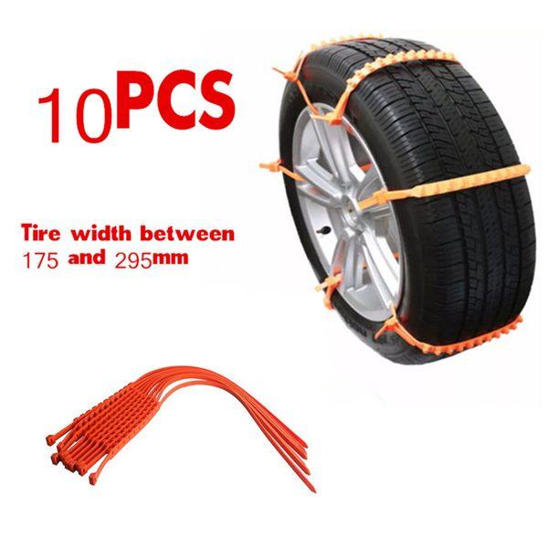 10pcs Universal Snow Tire Chain Car Truck Wheel Tire Antiskid Chains Slip Chains