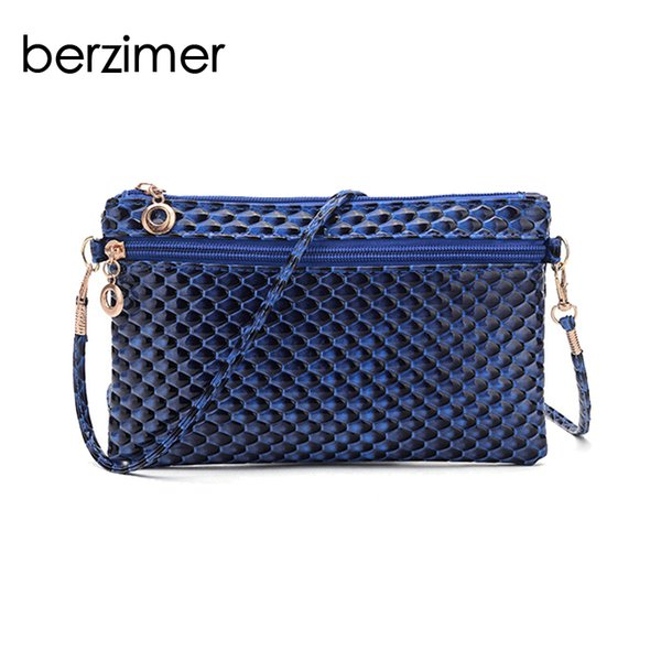 BERZIMER New Fashion Women Hand Bags Beautiful Day Clutches Elegant Black Blue Red Rose Pink Handbags Crossbody Bags for Women