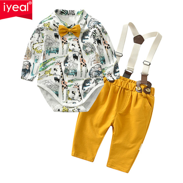 7a387a576217c 2018 Iyeal Baby Boy Gentleman Clothes Set Autumn Suit For Toddler Kid  Formal Party Bow Bodysuit Set 0 24 M Infant Boy Clothing From Callshe,  $34.16 | ...