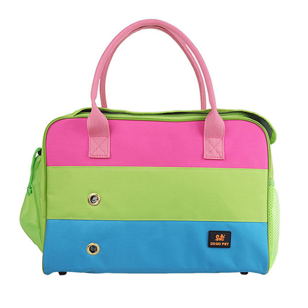 Durable Small Pet Cat Dog Outdoor Travel Luxury Carrier Bag Chihuahua Dog puppy Portable Carrying Bags Tote Handbag Pink Green Free Shipping