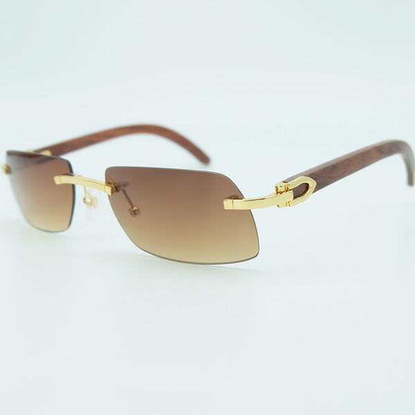Wood Rimless Sunglasses Man Mens Sun Glass Online Brand Designer Wooden Sunglass Vintage Holiday Decoration Shades