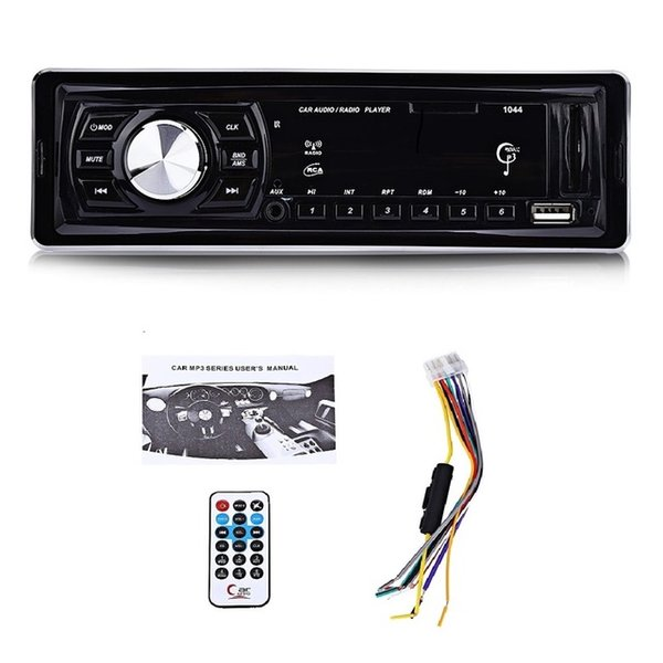 Car MP3 Player 1 DIN 12V Universal Car MP3 Player FM Radio Audio Stereo LED Display Media Receiver USB SD MMC AUX Input Remote Control