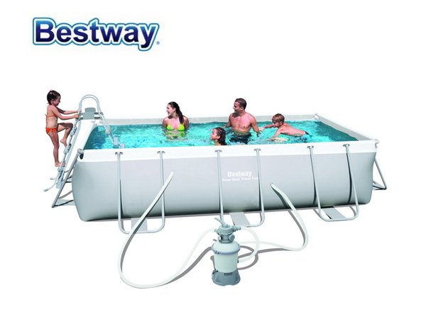 2019 56442 Bestway 404*201*100cm Rectangular Super Strong Steel Tube  Framing Pool Above Ground Swimming Pool With Sand Filter Ladder From Moonk,  ...