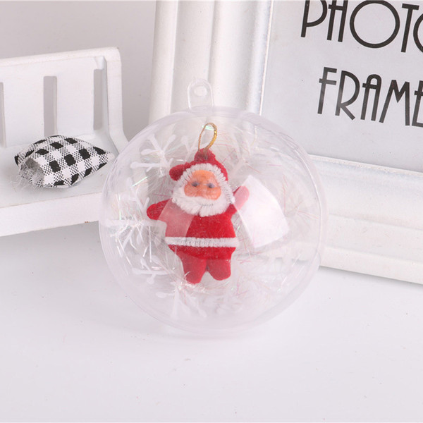 70pcs 7cm ornaments ball decorations for home Christmas Tree Transparent hanging ball wedding decoration window display