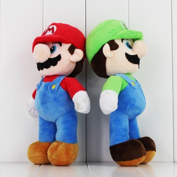 2018 New 25cm Super Mario Plush Toy Mario Luigi Soft Stuffed Doll With Tag