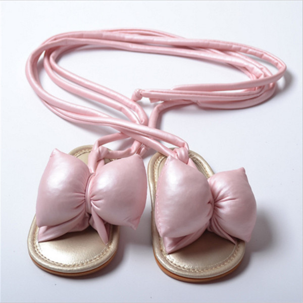 Fashion Baby Girl Sandals Butterfly Bandage Pink Gold Black White Shoes Infant Kids Children Bowknot Summer Baby Casual Shoes