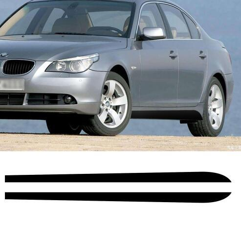 2Pieces Side Skirt Stripes Sill Vinyl Decal Stickers Newest Style Sport Performance logo for BMW 5 Series E60 E61 520i 523i 528i
