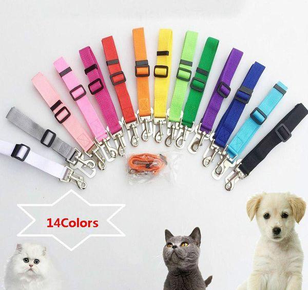 best selling Dog Seat Belts For Cars Adjustable Stretch Pet Seat Belt For Dog With Safe Hook Garden Outdoor Leashes KKA2276