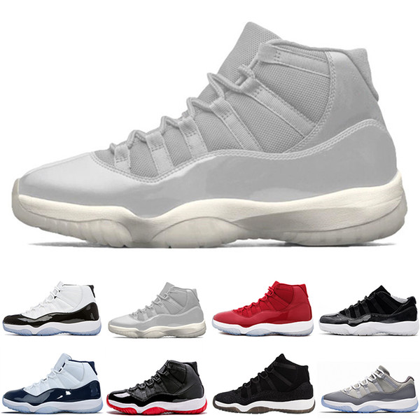Drop Shipping Cheap New 11 Gym Red Concord 45UNC 11 Low Barons 11s Space Jam Bred Men Basketball Sports Shoes Ship size US 5.5-13