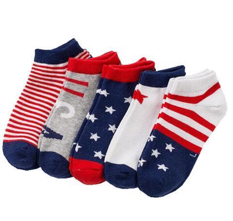 5 Pairs Bebek Çorap Yenidoğan Yaz Örgü Pamuk Polka Dots Düz Stripes Çocuk Kız Erkek Çocuk Çorap 3-12 Yıl için