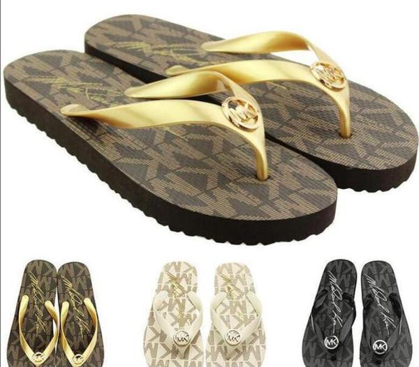 Free Shipping luxury good quality Sandy beach Shoes men Women designer slippers Flip Flops Shoes brand sandals men Women Size US5-11