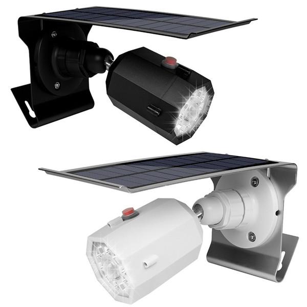 10 LED Solar Camera Light Waterproof Wall Lamp Spotlight 3.7V/2200Mah Solar Panel Led Outdoor Lighting With Three Modes For Garden Wall Yard