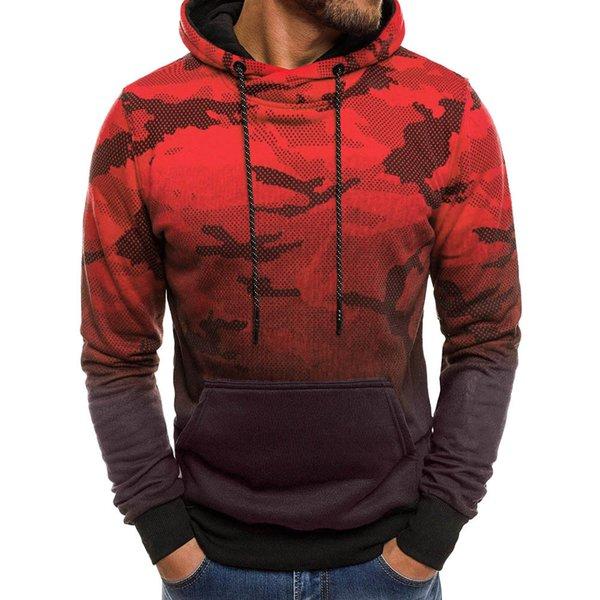Acheter FeiTong Camo Sweat À Capuche Pour Hommes Camouflage Style Pullover Top Blouse Survêtement Militaire Sweat À Capuche Homme D18100704 De $28.94