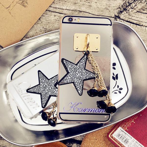 Luxury Fancy Unique Custom name letter star tassel mirror phone case cover For LG G4 G5 G6 V10 V20 V30 G7