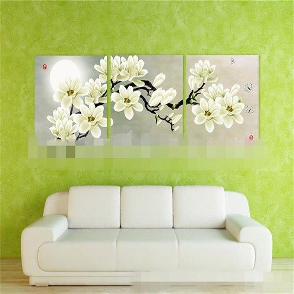 2.5 cm de espessura Placa Dermatoglifia Pintura Em Casa Quarto Sofá Fundo Magnolia Sem Moldura Pinturas De Parede 58zs3 ff