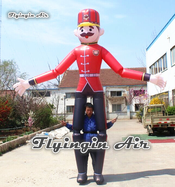 Advertising Inflatable Marionette Puppet 3.5m Height Moveable Walking Hand Controlled Man Costume For Parade And Party