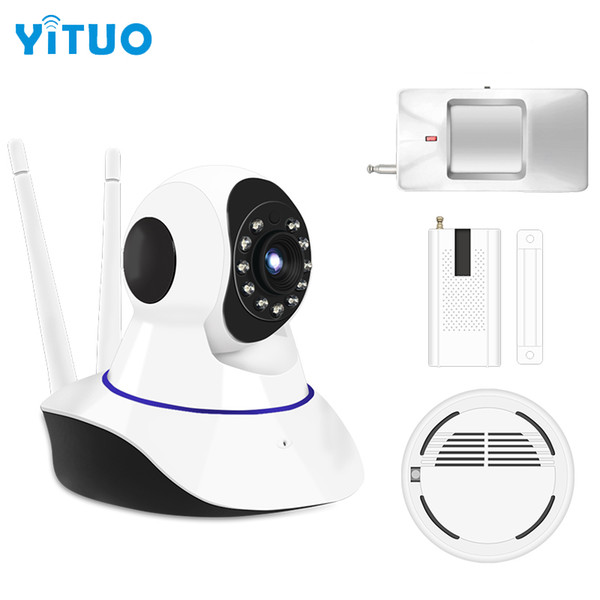 Alarm Systems Security WIFI IP Camera Security System Video Surveillance Camera Wireless Home Alarm System With Sensor Alarm YITUO