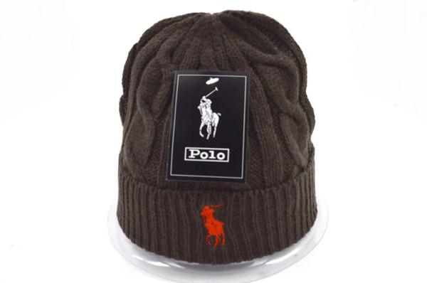 high quality fashion design ski POLO Beanies Winter Hats for Men women Knitted Beanie Wool Hat Man Knit Bonnet Gorros touca Thicken Warm Cap