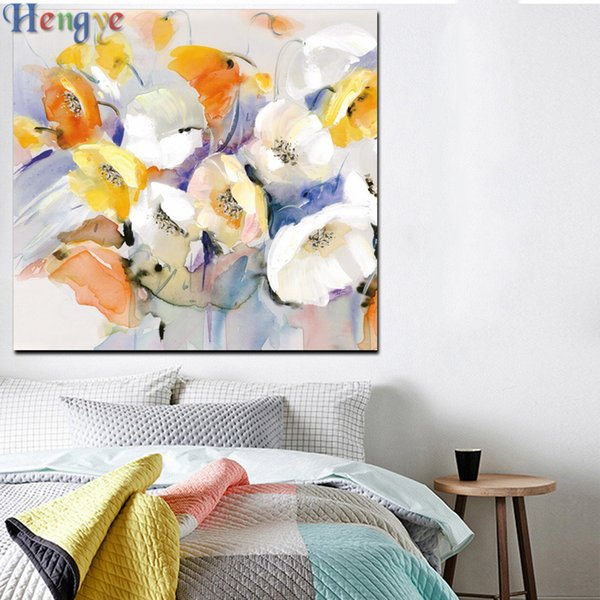ZYXIAO colorful rose flower Print Wall Oil Painting Art picture print on canvas No Frame for bedroom living home mosaic decor gift ys0019