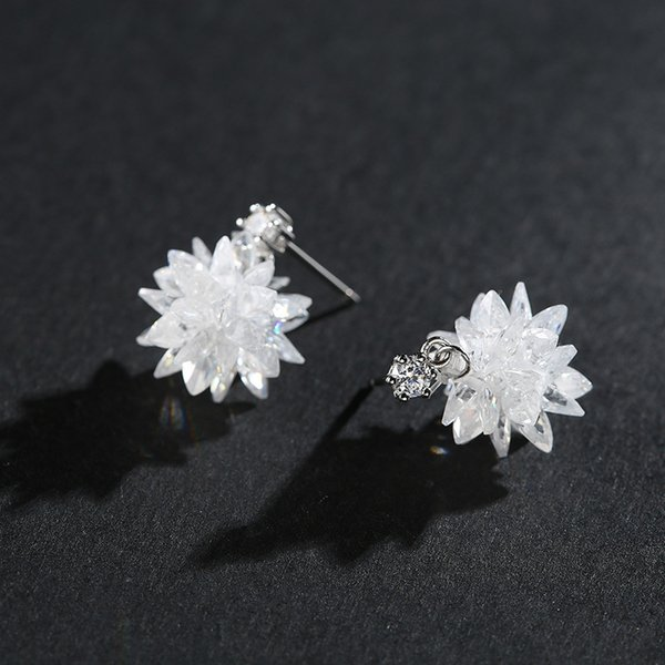 Toptan 925 Gümüş Küpe Moda Kübik Zirkon 100% S925 Gümüş buklet d 'oreille Saplama Küpe Kız Kadınlar Takı için