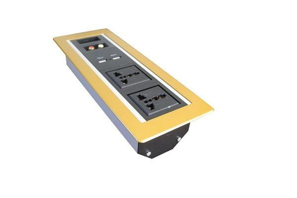 RCA 3.5 Audio HDMI USB internet VGA universal power socket silver golden black aluminum wall socket plate customized