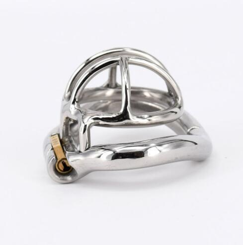Stainless Steel Male Chastity device Adult Cock Cage With arc-shaped Cock Ring BDSM Sex Toy Bondage Men Chastity Belt