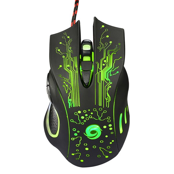 ZF A868 Fantastic Alternating Light USB 2.0 7-Button Wired Game Mouse Black