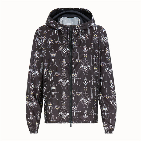 7d50e82c031 Fashion Designer Jacket Luxury Windbreaker Long Sleeve Mens Brand Jackets  Hoodie Zipper Animal Letter Pattern Plus