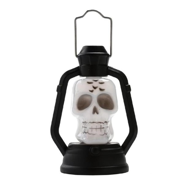 Halloween Decoration Party Accessories Portable Lantern Pumpkin Night light Skull Witch Ghost Colorful Hanging LED Lamp for Kids