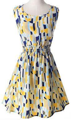 Newest fashion Women Casual Dress Plus Size Cheap China Dress 17 Designs Women Clothing Sleeveless Summe Dress Free Shipping L07
