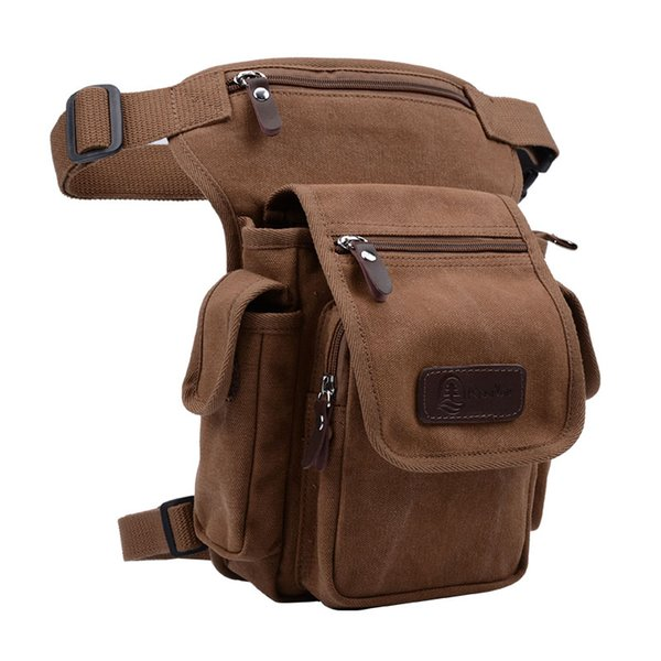 2017 Canvas Canvas Drop Bag uomo Messenger tracolla Hip Bum Fanny Marsupio per viaggio Sacchi per moto Cross Body Bags