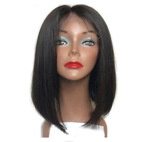 Natural Color / #2 / #4 For Charming Women Short Bob Wigs Brazilian/Indian/Malaysian Remy Hair Straight Lace Front Human Hair Wigs