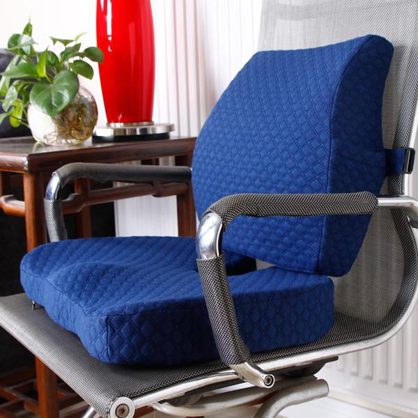 2 ADET / TAKıM Rahat Bellek Köpük Ortopedik Koltuk Minderi Bel Geri Ev Ofis Sağlık Yastık için Destek Set