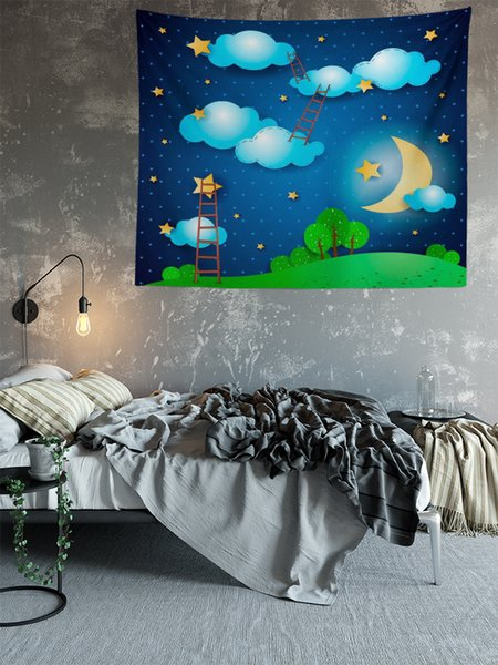 Night Sky Star Picture Sublimation Printed High Resolution Custom Size 130X150cm Wall Tapestry for Home Decoration